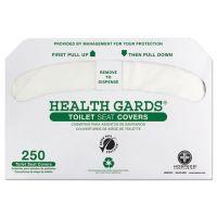 HOSPECO Health Gards Green Seal Recycled Toilet Seat Covers, White, 250/PK, 4 PK/CT HOSGREEN1000