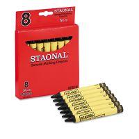 Crayola Staonal Marking Crayons, Black, 8/Box CYO5200023051