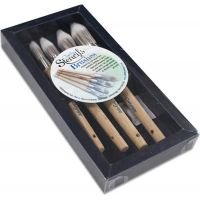 Clarity Stencil Brushes 4/Pkg NOTM035419