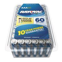 Rayovac Alkaline Battery, AAA, 60/Pack RAY82460PPK