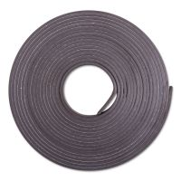 """ZEUS Adhesive-Backed Magnetic Tape, Black, 1/2"""" x 10ft, Roll BAU66010"""