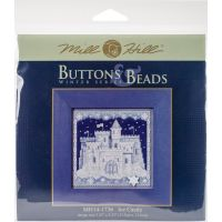 Ice Castle Buttons & Beads Counted Cross Stitch Kit NOTM052685