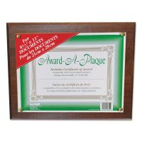 NuDell Award-A-Plaque Document Holder, Acrylic/Plastic, 10-1/2 x 13, Walnut NUD18811M