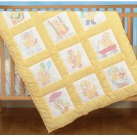 Jack Dempsey Stamped White Nursery Quilt Blocks NOTM302385