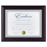 DAX Prestige Document Frame, Rosewood/Black, Gold Accents, Certificate, 8 1/2 x 11 DAXN3028N2T