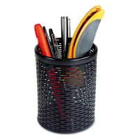 Artistic Urban Collection Punched Metal Pencil Cup, 3 1/2 x 4 1/2, Black AOPART20005