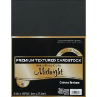 Core'dinations Premium Textured Midnight Cardstock  NOTM239412