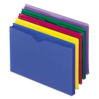 Pendaflex Expanding File Jackets, Legal, Poly, Blue/Green/Purple/Red/Yellow, 5/Pack PFX50993