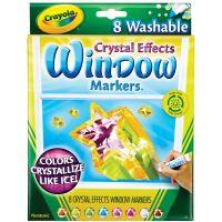 Crayola Crystal Effects Washable Window Markers NOTM208032