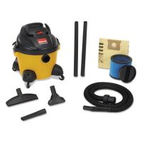 Shop-Vac Right Stuff Wet/Dry Vacuum, 6 gal Capacity, 8 amp, 19 lbs, Yellow/Black SHO9650610