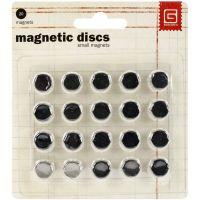 """Basic Grey Magnetic Discs .375"""" 20/Pkg NOTM368828"""