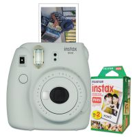 Fujifilm Instax Mini 9 Camera Bundle, w/ (2) AA Batteries;20-Exposure Roll FUJ600018360