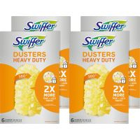 Swiffer 360 Dusters Refill, Dust Lock Fiber, Yellow, 6/Box, 4 Box/Carton PGC21620CT