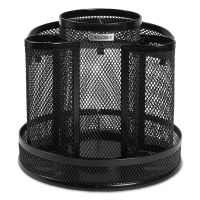 Rolodex Wire Mesh Spinning Desk Sorter, Black ROL1773083