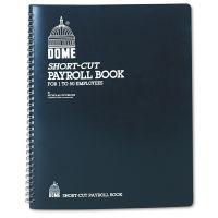 Dome Payroll Record, Single Entry System, Blue Vinyl Cover, 8 3/4 x11 1/4 Pages DOM650