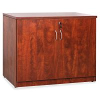 Lorell Essentials Srs Cherry Laminate Storage Cabinet LLR69611