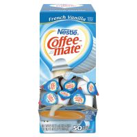 Coffee-mate French Vanilla Creamer, 0.375oz, 50/Box NES35170BX