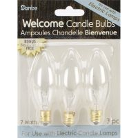 Darice Candle Lamp Collection Welcome Candle Bulbs NOTM223685
