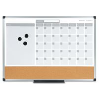 MasterVision 3-in-1 Calendar Planner Dry Erase Board, 24 x 18, Aluminum Frame BVCMB3507186