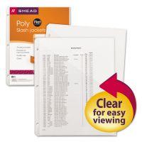 Smead Organized Up Poly Slash Jackets, Letter, Polypropylene, Clear, 5/Pack SMD89506