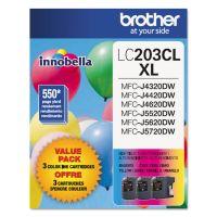 Brother LC2033PKS Innobella High-Yield Ink, Cyan/Magenta/Yellow, 3/PK BRTLC2033PKS