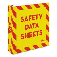 "Avery Safety Data Sheet Heavy-Duty Non-View Preprinted Binder, 2"" Cap, Yellow/Red AVE18951"