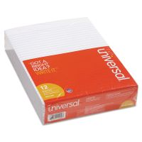 Universal Glue Top Writing Pads, Legal Rule, Letter, White, 50 Sheet Pads/Pack, Dozen UNV11000