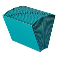 Smead Heavy-Duty A-Z Open Top Expanding Files, 21 Pockets, Letter, Teal SMD70717
