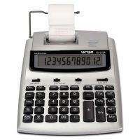 Victor 1212-3A Antimicrobial Printing Calculator, Blue/Red Print, 2.7 Lines/Sec VCT12123A
