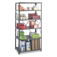 Safco Commercial Steel Shelving Unit, Six-Shelf, 36w x 24d x 75h, Dark Gray SAF6270