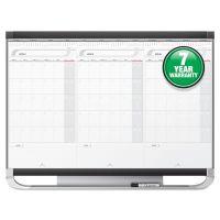 Quartet Prestige 2 Total Erase 3-Month Calendar, 36 x 24, White, Graphite Frame QRTCMP32P2