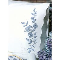 """Stamped Pillowcase Pair For Embroidery 20""""X30"""" NOTM242863"""