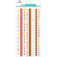 "Paper House Life Organized Rice Paper Border Stickers 8""X4"" NOTM529348"