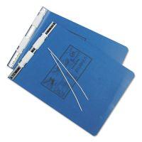 Universal Pressboard Hanging Data Binder, 9-1/2 x 11, Unburst Sheets, Blue UNV15432