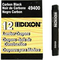 Dixon Lumber Crayons, 4 1/2 x 1/2, Carbon Black, Dozen DIX49400
