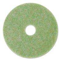 """3M Low-Speed TopLine Autoscrubber Floor Pads 5000, 18"""" Diameter, Green/Orange, 5/CT MMM18050"""