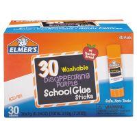 Elmer's Washable School Glue Sticks, Purple, 30/Box EPIE555