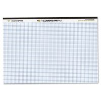 Roaring Spring WIDE Landscape Format Quadrille Writing Pad, 11 x 9 1/2, White, 40 Sheets ROA74505