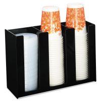 Boardwalk Cup Holder, 12 x 4 x 8, Black, Acrylic BWK99003