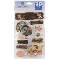 """Paper House 3D Stickers 4.5""""x8.5"""" NOTM207265"""