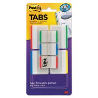 "Post-it Tabs Tabs Value Pack, 1"" and 2"", Assorted Primary Colors, 114/PK MMM686VAD1"