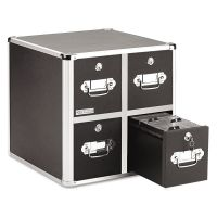 Vaultz 4-Drawer CD File Cabinet, Holds 660 Folders or 240 Slim/120 Standard Cases IDEVZ01049