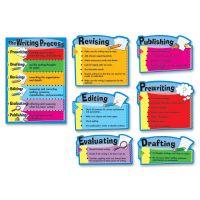 "Carson-Dellosa Publishing Writing Process Chart, 7 Pieces, 17"" x 24"" CDP110014"