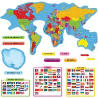 Trend Continents & Countries Bulletin Board Set TEP8259