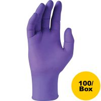 Kimberly-Clark Professional* PURPLE NITRILE Exam Gloves, 242 mm Length, Small, Purple, 100/Box KCC55081