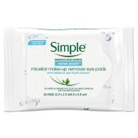 Simple Eye And Skin Care, Eye Make-Up Remover Pads, 30/Pack UNI27222PK