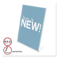 deflecto Classic Image Slanted Desk Sign Holder, Plastic, 8 1/2 x 11 Insert, Clear DEF69701