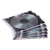 Fellowes Slim Jewel Case, Clear/Black, 50/Pack FEL98330
