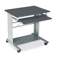 Safco Mayline Empire Mobile PC Cart, 29-3/4w x 23-1/2d x 29-3/4h, Anthracite MLN945ANT