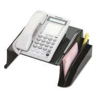"""Officemate 2200 Series Telephone Stand, 12 1/4""""w x 10 1/2""""d x 5 1/4""""h, Black OIC22802"""
